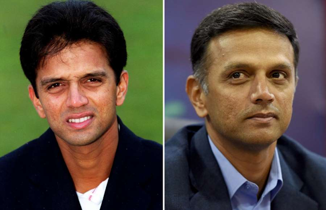 Rahul Dravid then and now
