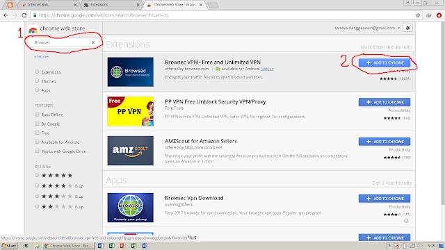 Browsec - Add Ons Untuk Membuka Situs Diblokir