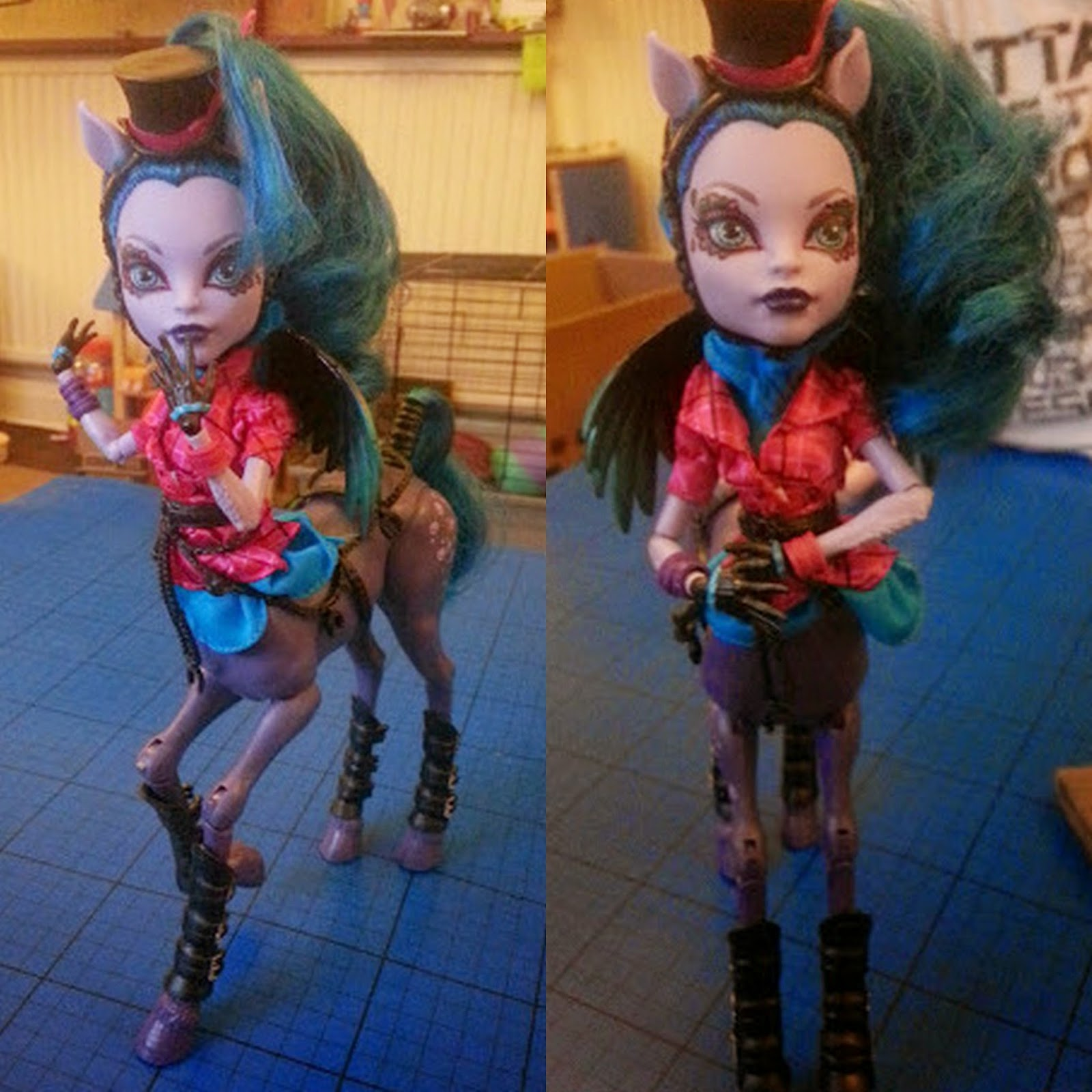 Monster High Freaky Fusion Hybrid Avea Trotter Doll poseable