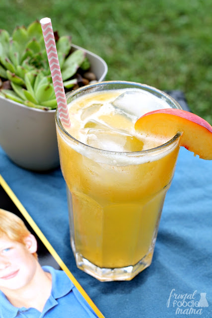 A refreshing combination of fresh peach puree, iced green tea, & a splash of club soda, this Fresh Peach Green Tea Spritzer is perfect for relaxing with on a summer afternoon.