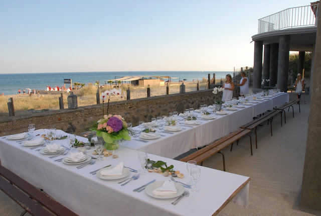 south of france beach wedding