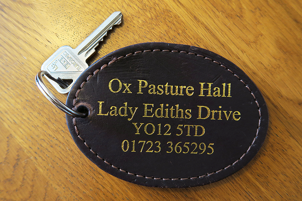 Ox Pasture Hall room key