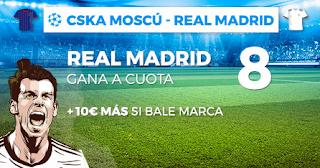 Paston Megacuota champions Real Madrid gana CSKA 2 octubre