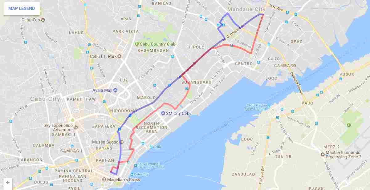 Ride a Jeepney in Cebu and its Travel Routes Code 22a even and 22a odd Destination Mandaue Cathedral Ouano Map Best of Philippines 2018