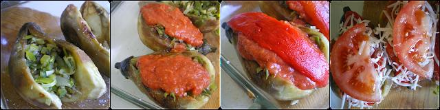 Berenjenas rellenas de verduras: Relleno