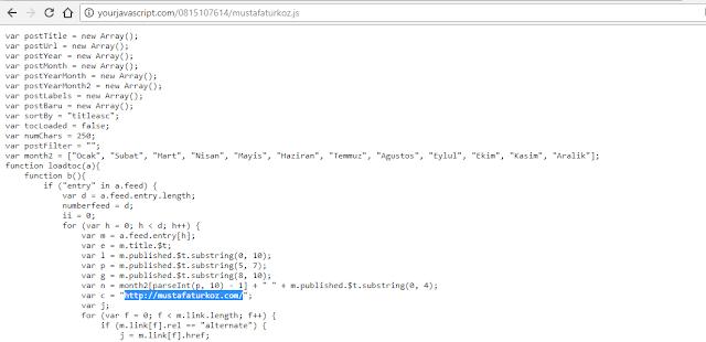 Javascript kodlar