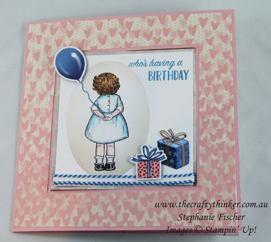 Fun Fold, Sneak Peek, Lever Card, Birthday Delivery, #crazycraftersbloghop, #thecraftythinker, Stampin Up Australia Demonstrator, Stephanie Fischer, Sydney NSW