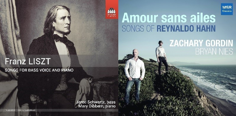 BEST LIEDER RECORDINGS OF 2017: Franz Liszt - SONGS FOR BASS VOICE AND PIANO (Toccata Classics TOCC 0441) & Reynaldo Hahn - AMOUR SANS AILES (MSR Classics MS 1649)