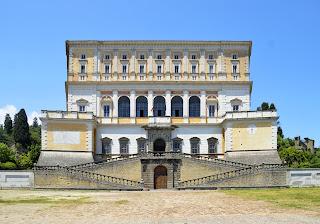 Vignola's Villa Farnese at Caprarola, near Viterbo in Lazio, acknowledged as one of the architect's masterpieces