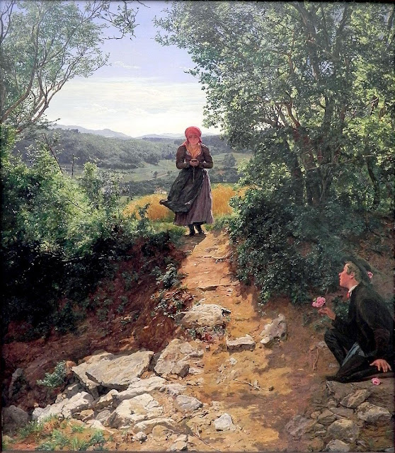 Uma mulher em um quadro de 1860  parece segurar um Iphone