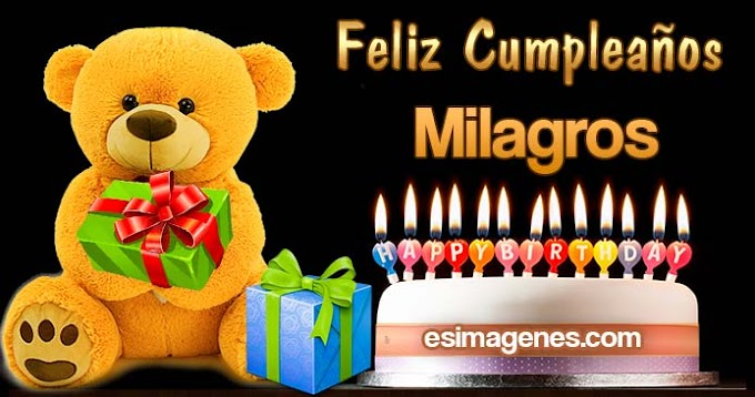 Feliz Cumpleaños Milagros