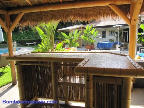 Quality Bamboo and Asian Thatch: Bamboo Tiki Real Bamboo ... on Backyard Tiki Bar For Sale id=67315