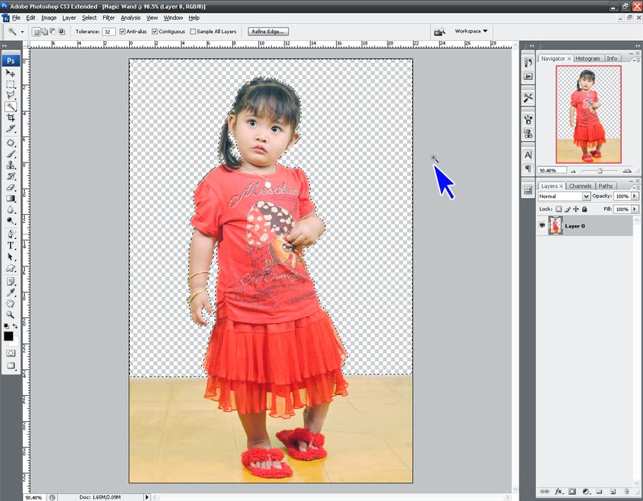 Cara menghilangkan latar belakang foto dengan photoshop