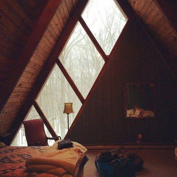 Vintage style, A frame Room