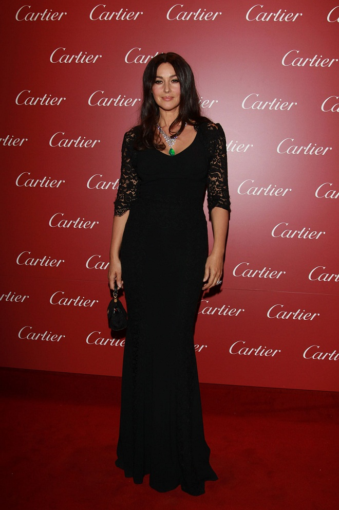 Monica Bellucci Looks Radiant At The Cartier Store Re