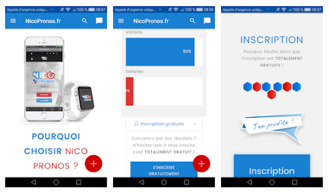 NicoPronos.fr Mobile App - YouthApps