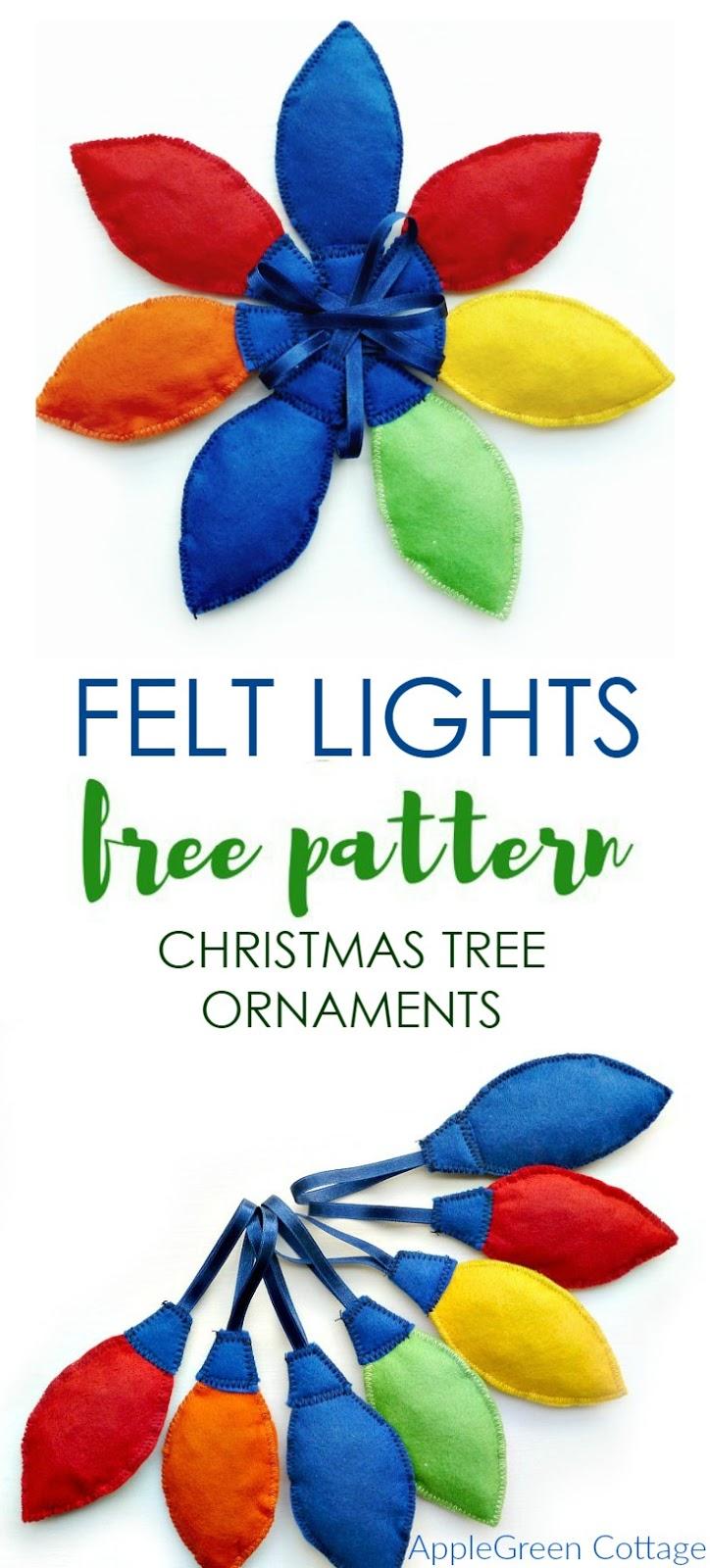 Cute DIY Christmas Tree Decorations Tutorial - AppleGreen Cottage
