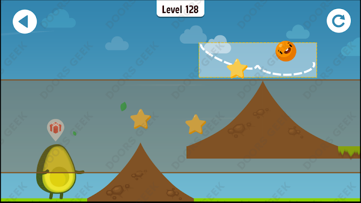 Where's My Avocado? Level 128 Solution, Cheats, Walkthrough, 3 Stars for Android, iPhone, iPad and iPod