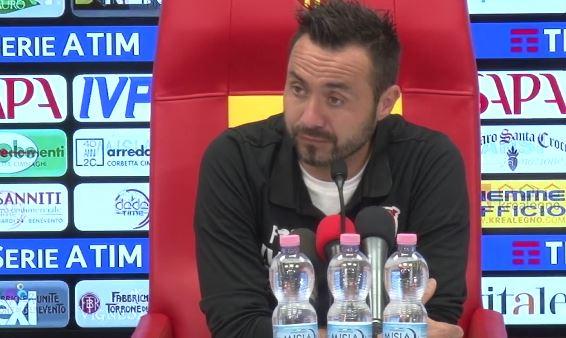 """Benevento, De Zerbi in conferenza:""""Perdiamo Iemmello e Billong, Djurcic out. Domani ci tengo a fare una partita vera"""". VIDEO"""