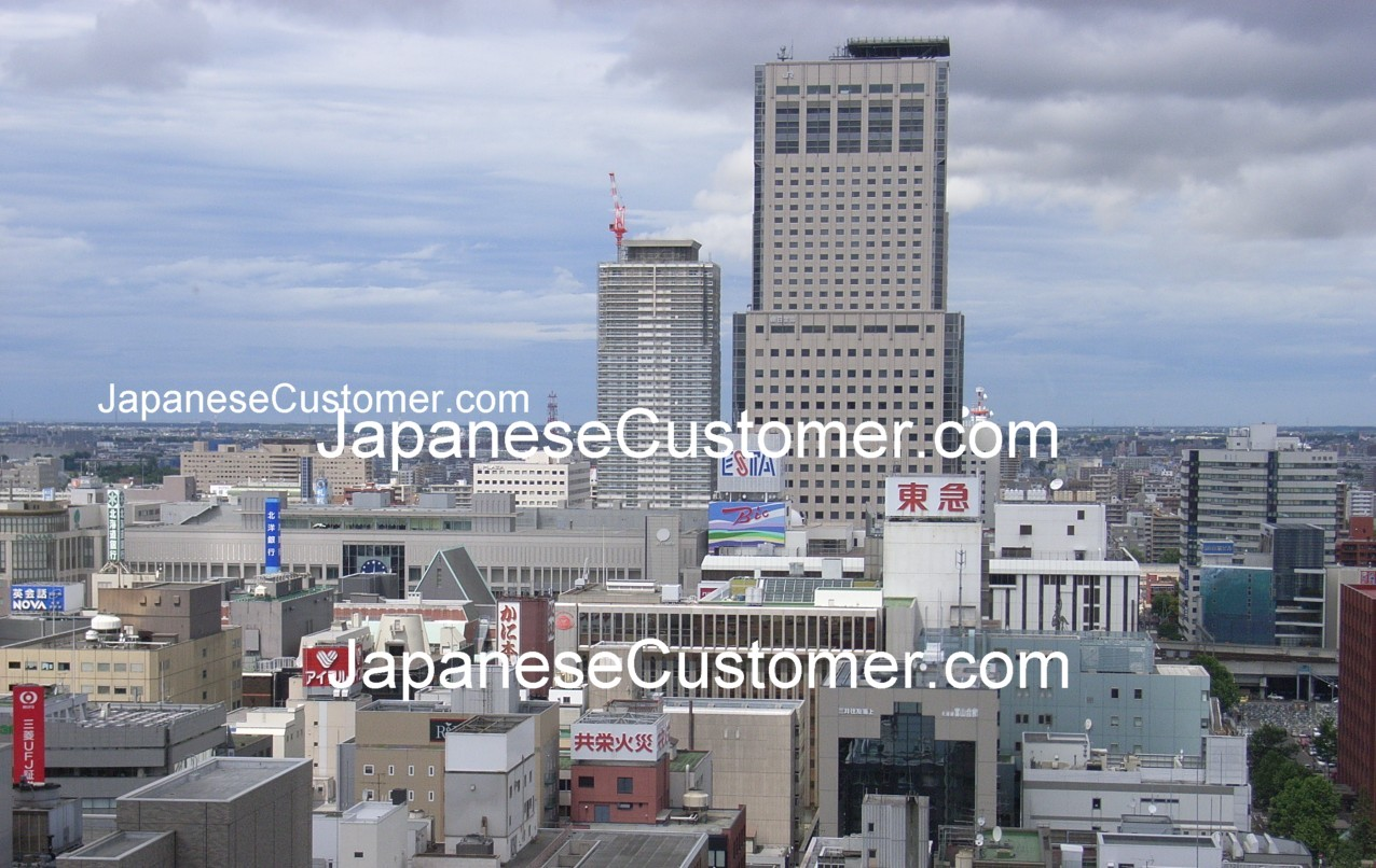 Business skyline in Sapporo, Japan Copyright Peter Hanami 2014