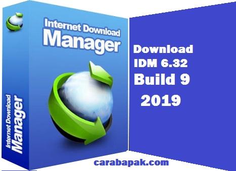 carabapak.com - IDM 6.32 build 9 - Halo anaku dimanapun kamu berada. Bagaimana kabarnya hari ini? Semoga dalam keadaan sehat selalu. Apakah kamu kenal IDM? Di dunia internet dan pengguna PC, IDM merupakan aplikasi yang sangat terkenal. Penggunaannya juga sangat mudah dan praktis dibanding aplikasi lainnya. Simak pembahasan bapak berikut ini.      IDM merupakan singaktan dari Internet Download Manager. Dari namanya saja kita pasti sudah mengetahui bahwa aplikasi ini merupakan aplikasi yang digunakan untuk keperluan mendownload. Jika kamu sering menonton youtube menggunakan PC, pasti agak susah untuk mendownload. Dengan IDM ini, ketika video di youtube di play maka tombol download akan tersedia.      Seketika itupun kamu bisa langsung mendownload video tersebut. Tombol download tersebut disertai dengan pilihan video dengan ukuran tertentu. Sehingga kamu bisa memilih kualitas dan besar video untuk di download.     Sebenarnya masih banyak aplikasi yang bisa digunakan untuk mendownload secara praktis. Namun menurut bapak dan sepengalaman bapak berselancar di dunia internet, IDM ini merupakan aplikasi yang sangat handal untuk masalah download men download.       Bukan hanya video yang bisa kamu download, file file yang bisa di play akan bisa di download dengan IDM ini. Walaupun dalam web penyedia media yang kamu play tidak menyediakan fasilitas button downlod.       IDM ini sering mengalami error. hal ini dikarenakan IDM selalu rutin mengupdate aplikasinya sehingga selalu terbaru. Selain itu penggunaan crack atau patch yang membuat IDM menjadi gratis untuk digunakan, membuat penggunaan IDM harus terus di update ke aplikasi terbaru. Jika tidak, kamu akan mengdapati status IDM kamu yang selalu mengeluarkan notifikasi error.    IDM yang bapa share berikut ini, merupakan IDM yang paling terbaru yang dikeluarkan oleh IDM. Selain itu juga didalamnya sudah dilengkapu dengan crack. Shingga kamu bisa menggunakannya secara gratis. Adapun file IDM 6.32 build 9 bisa kamu download pad