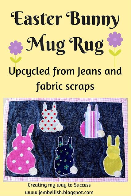 Easter Bunny Mug Rug
