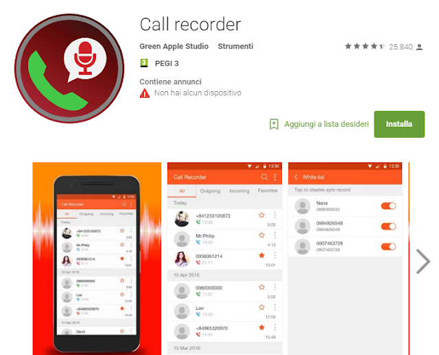 Call recorder Android
