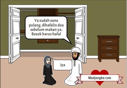 komik islam doa makan untuk mengusir hantu