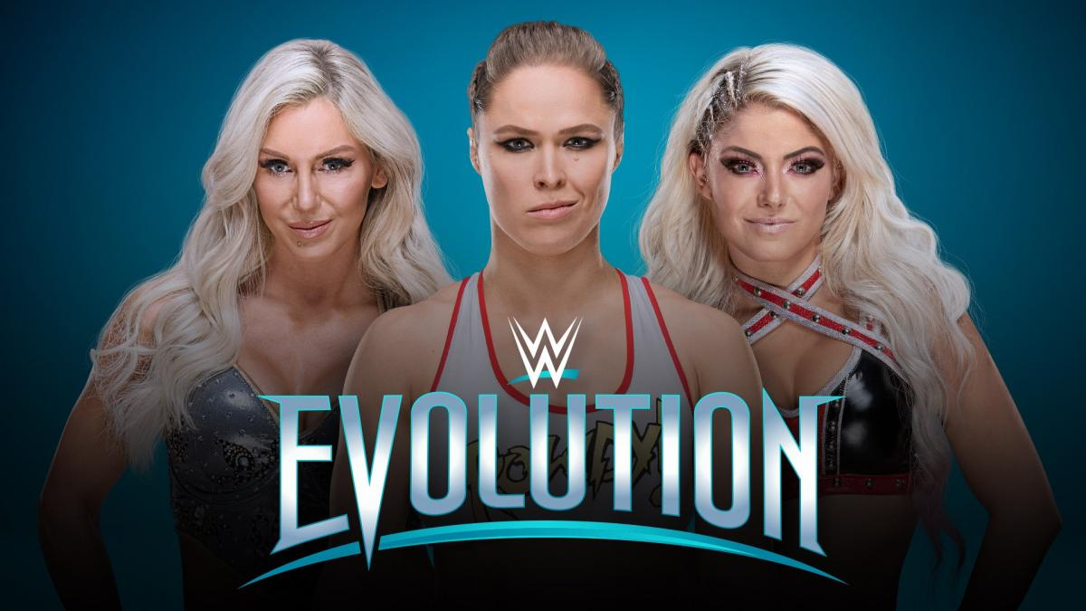 For The First Time In Wwe History An All Womens Exclusive Pay Per View Event Evolution Will Take Place On October  P M Et From Nycb Live