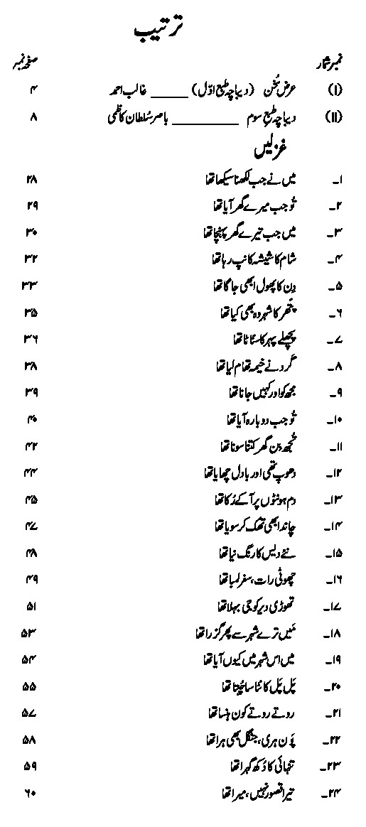 The Collection of Nasir Kazmi's Urdu Poetry