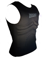 The Rib Rocket Lycra/Neoprene Black Vest, Side