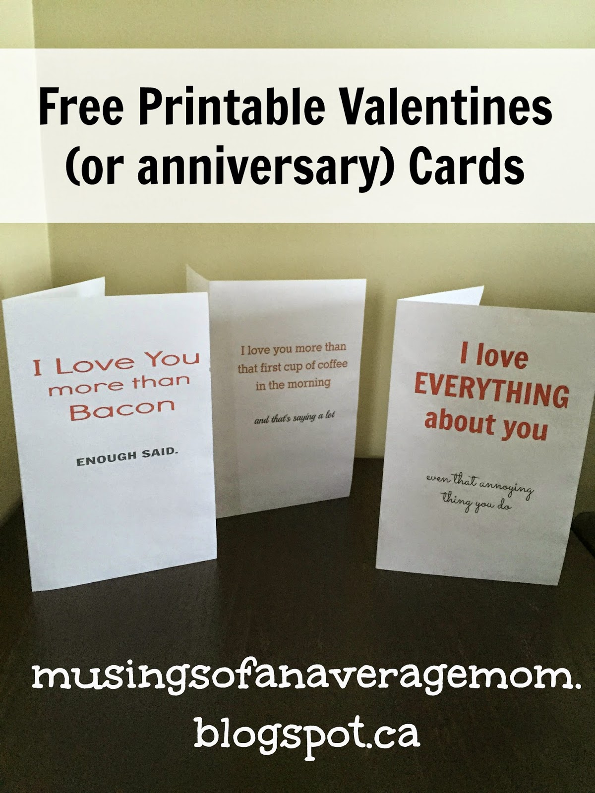 Free Printable Funny And Cute Valentines Or Anniversary Cards