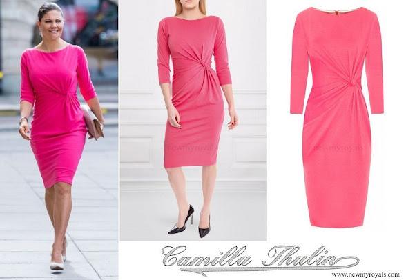 Crown Princess Victoria wore Camilla Thulin Orbit Dress