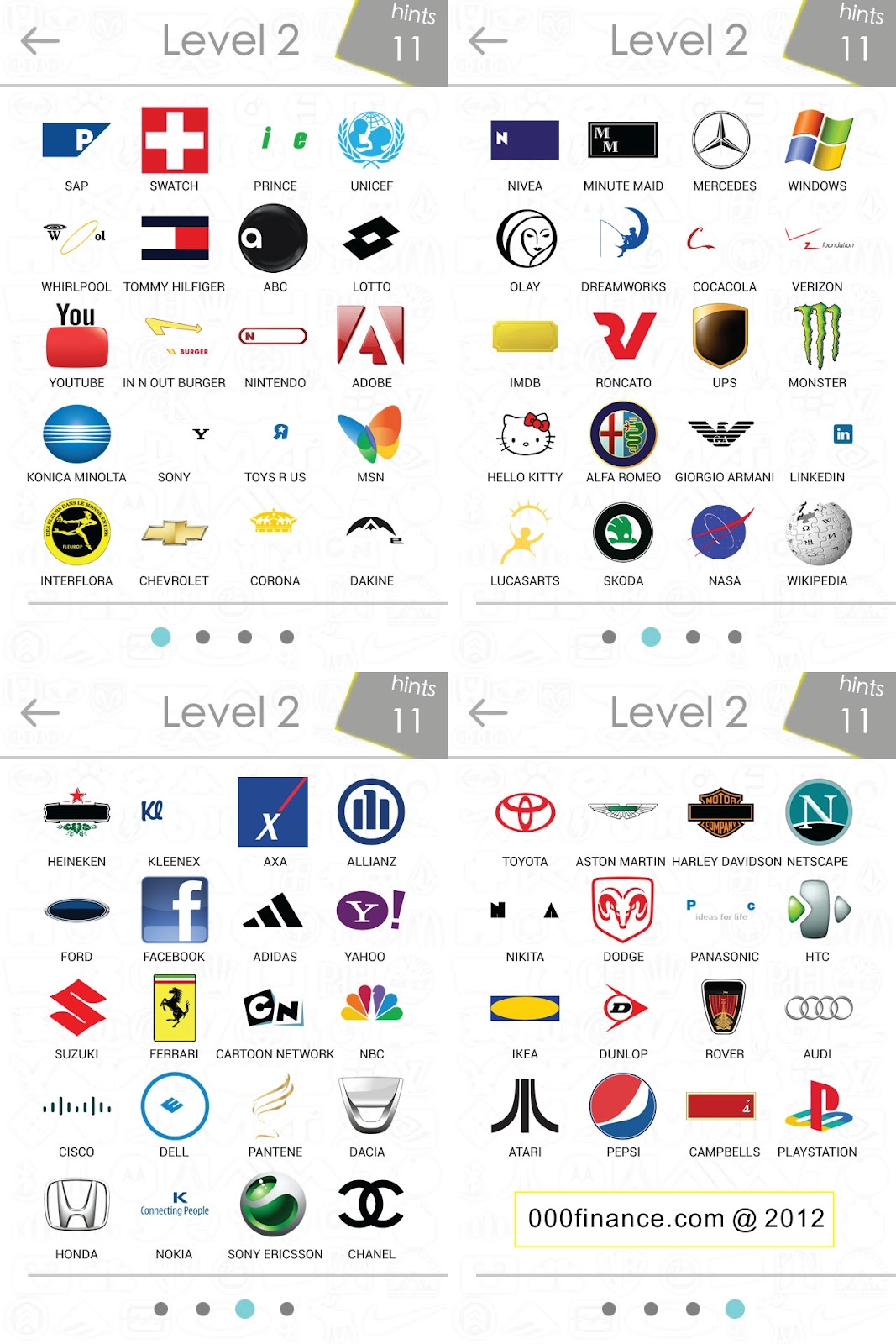 Logos Quiz Answer Level 2