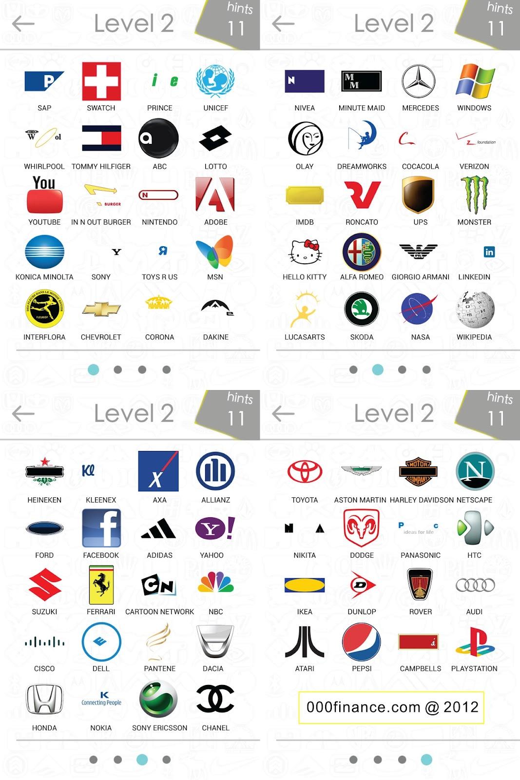 Logos Quiz Answer Level 2