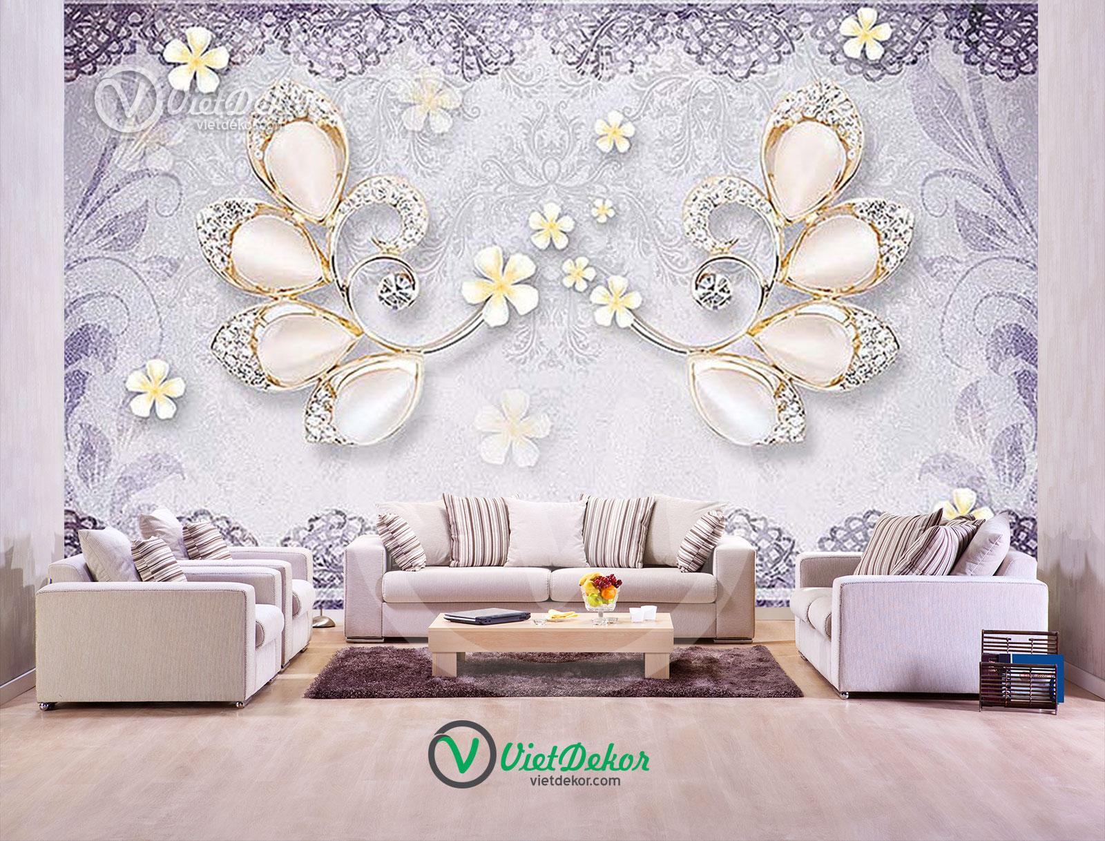 Tranh 3d dán tường trang sức