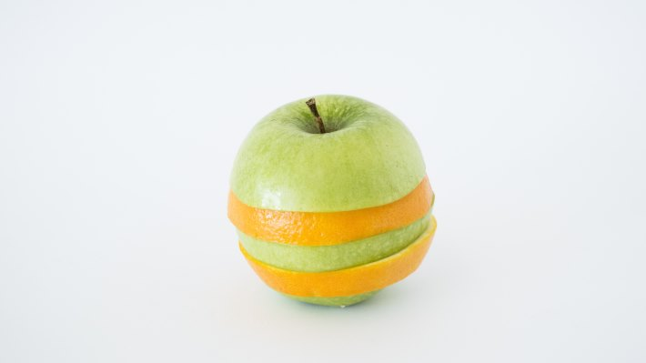Wallpaper: Apple and Orange