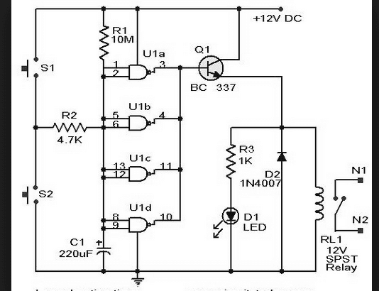 nand gate circuit using a 4011
