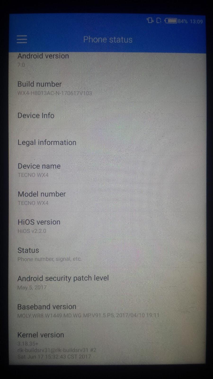 Tecno N8 Scatter Software Update