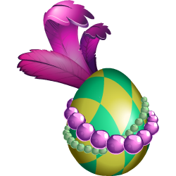 Appearance of Mardi Gras Dragon when egg