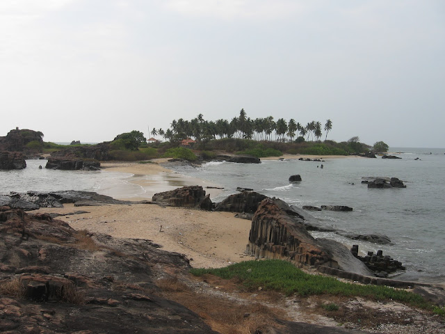 View of St.Mary's Island, Malpe, Udupi