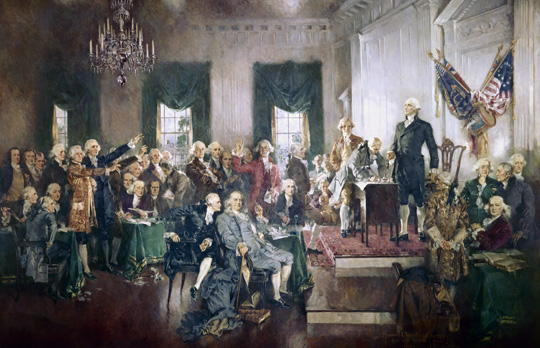 Signing of the Constitution by Howard Chandler Christy, 1940