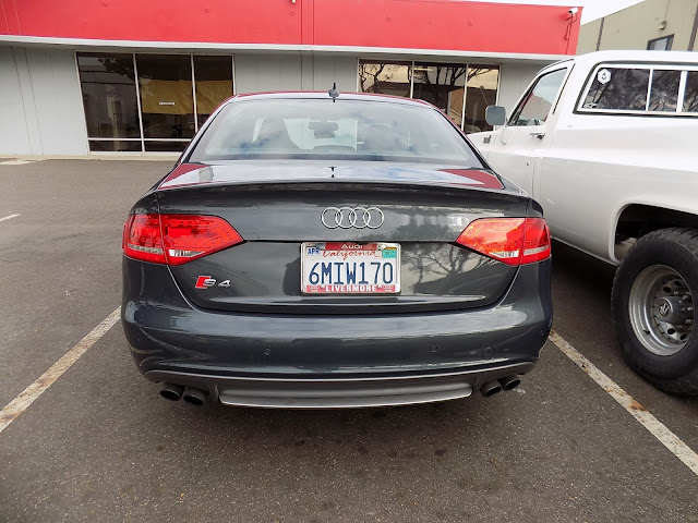 Audi S4 after collision repairs at Almost Everything Auto Body.