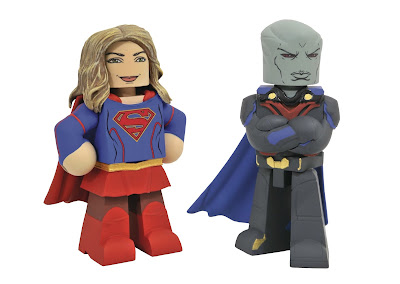 Supergirl TV Series Vinimates Vinyl Figures by Diamond Select Toys - Supergirl & Martian Manhunter