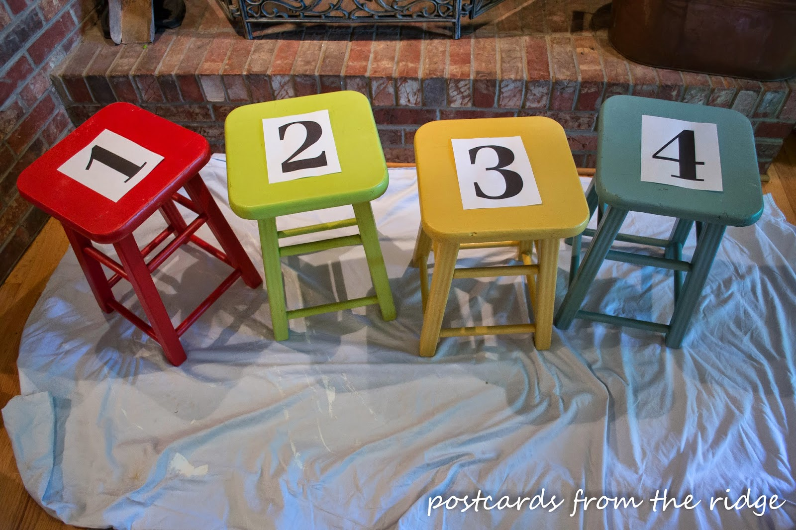 How to easily paint numbers or letters on furniture for Furniture 5 letters