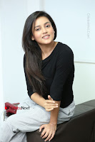 Telugu Actress Mishti Chakraborty Latest Pos in Black Top at Smile Pictures Production No 1 Movie Opening  0129.JPG