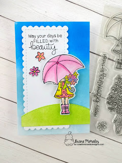 May Your Days Be Filled a card by Diane Morales| Loads of Blooms Stamp Set by Newton's Nook Designs