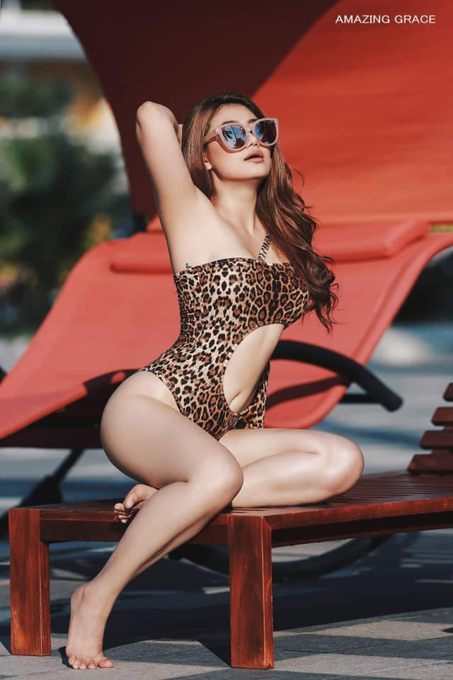 Thinzar Wint Kyaw - Swimsuit Fashion in Swimming Pool by Amazing Grace