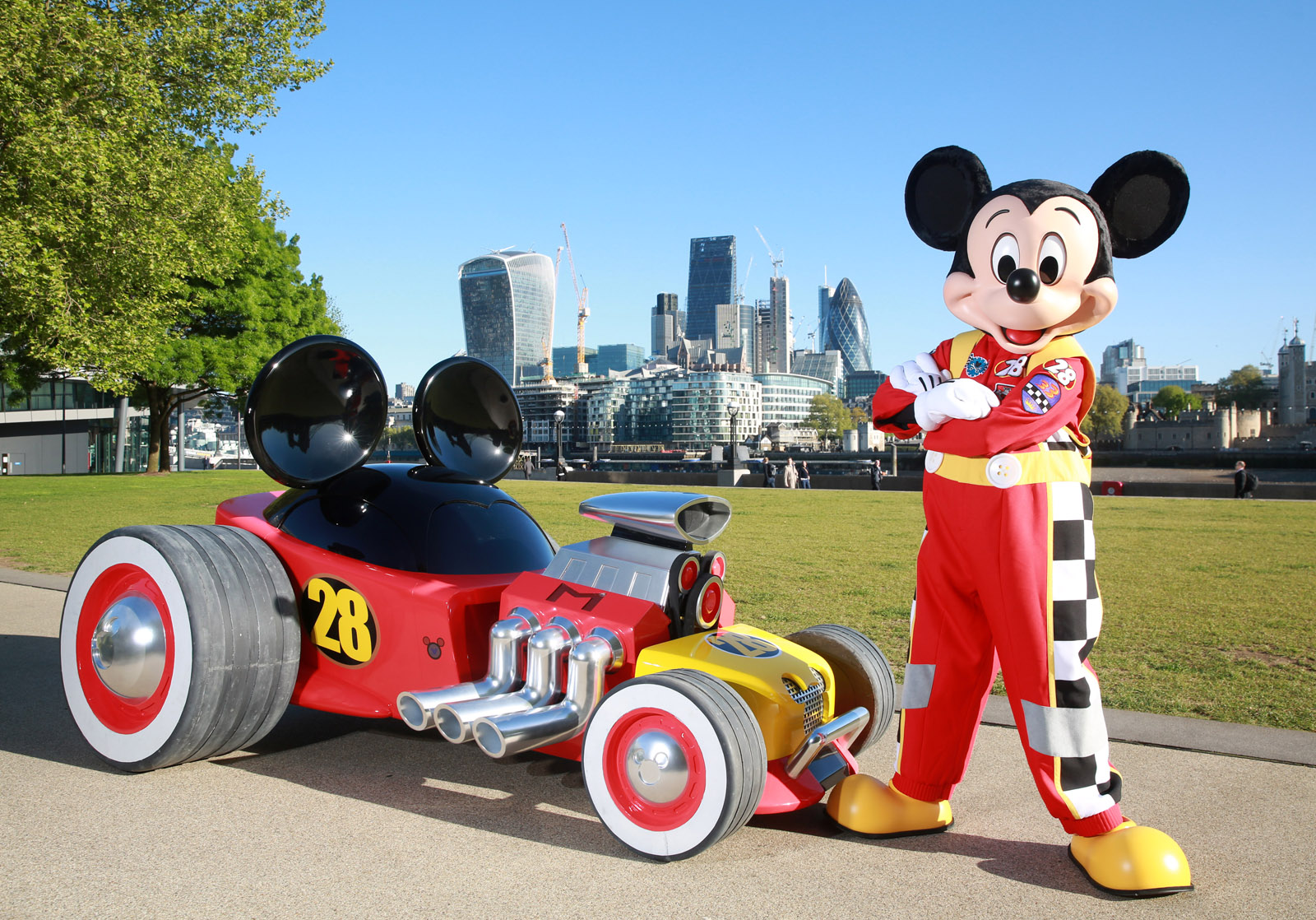 Check Out Mickey Mouse's New Hot Rod At The London Motor ...