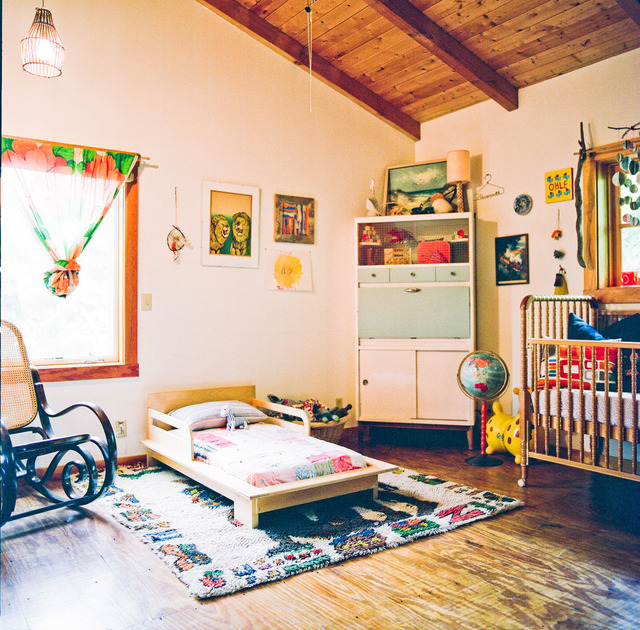 Kids Rooms Eclectic: The Boo And The Boy: Crib And Bed In One Room